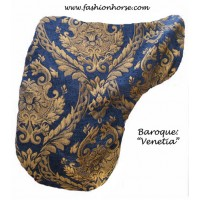 Dressage Cover Baroque Venetia Blue Gold