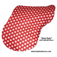 English Cover SALE Fleece Red Polkadots