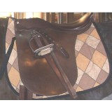 Dressage Pad under Saddleseat Saddle
