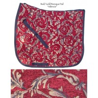 Dressage Pad and Cover VALENCIA Red Gold Baroque