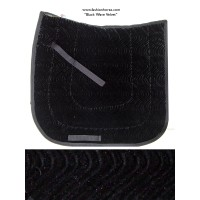 Dressage Pad Velvet Black