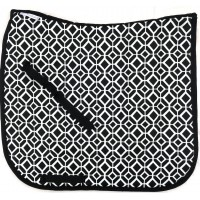 "Dressage Pad ""Black and White Design"""