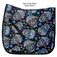 "Dressage Pad ""Day of the Dead Black"""