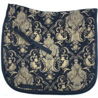 Dressage Pad Baroque Black with Gold
