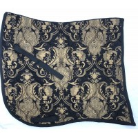 Dressage Pad ST Baroque Black with Gold