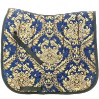 "Dressage Pad Baroque ""Venetia"" Blue Gold"