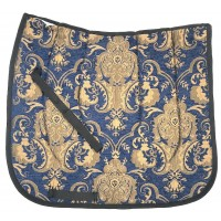 Dressage Pad Baroque Blue Gold
