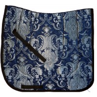 "Dressage Pad Baroque ""Silver on Blue"""