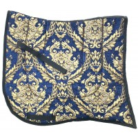 Dressage Pad ST Baroque Blue with Gold